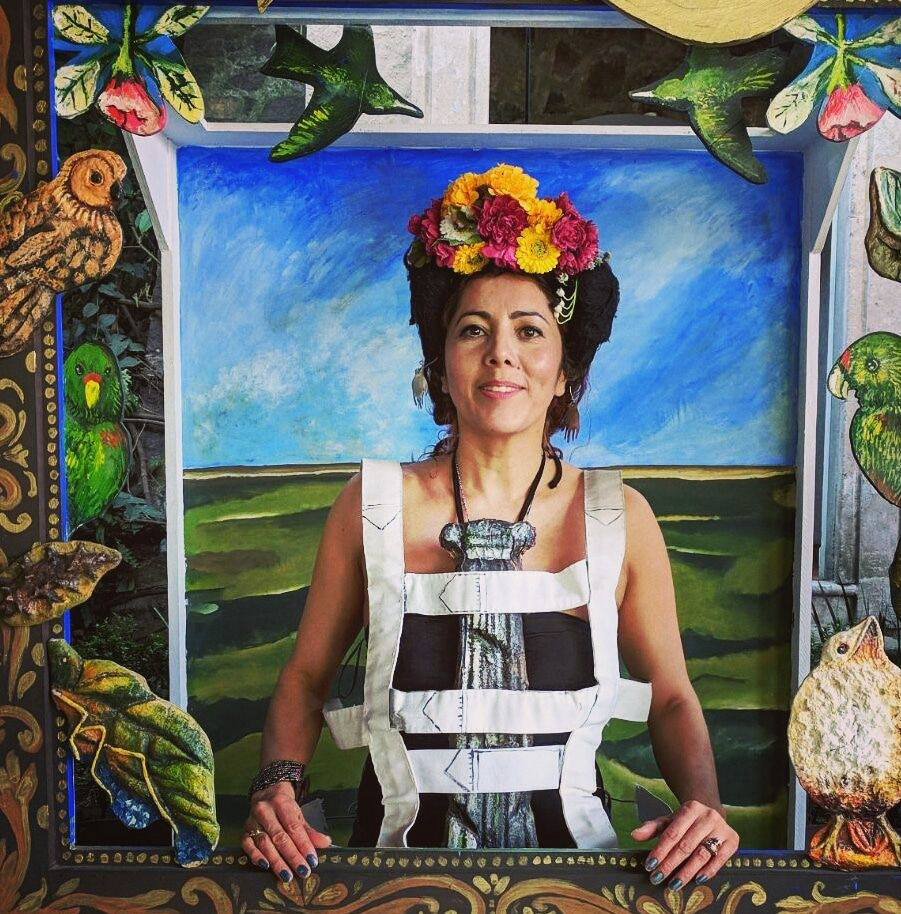 Painting Myself like Frida (Series),Photography, Sculpture and Performance,Dimensions Variable