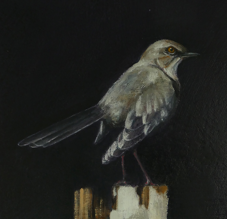 """He Knows Things (detail), Oil on Canvas, Mounted on Panel, 36"""" x 20"""""""