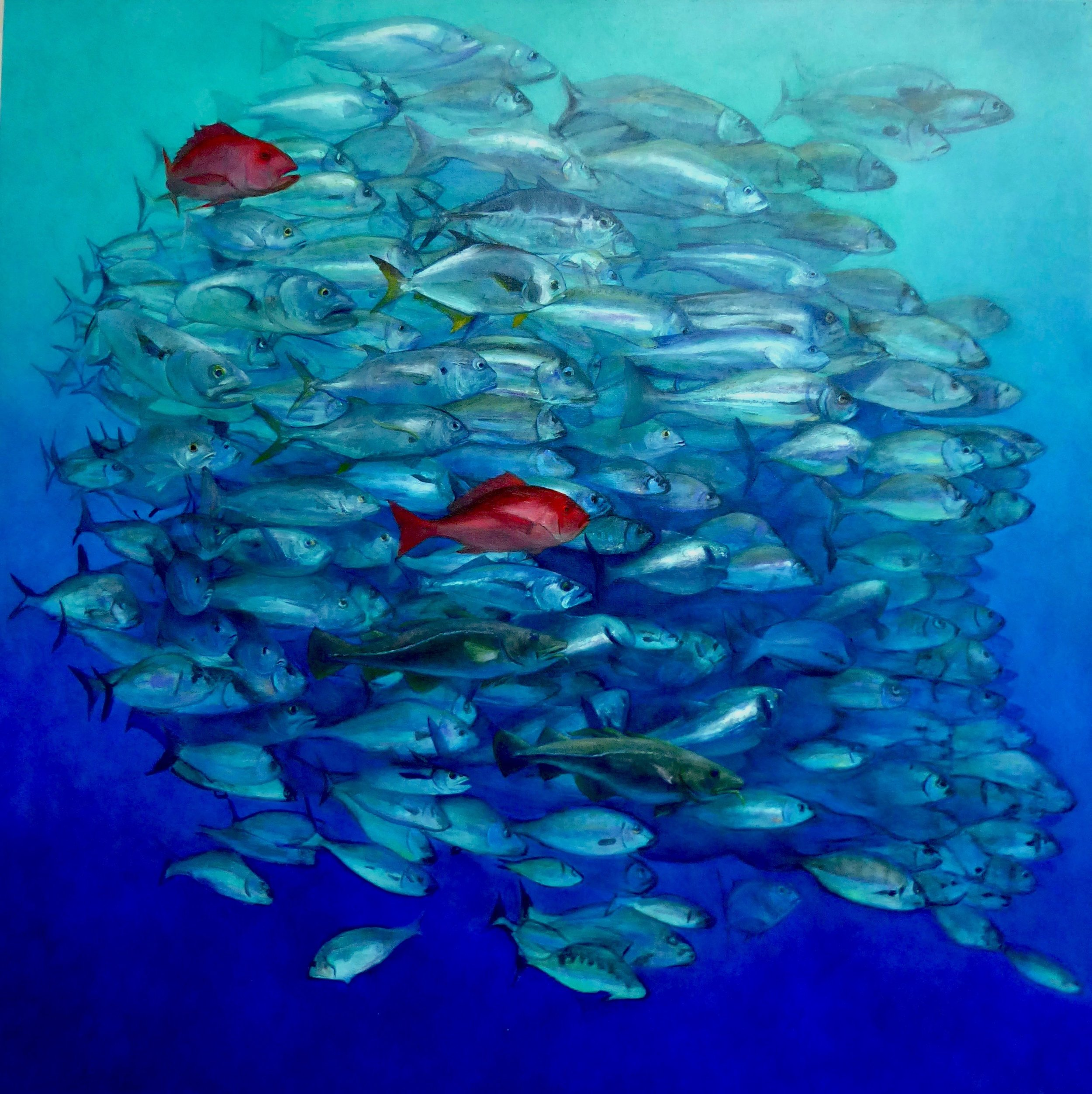 """The Last Fish on Earth, Oil on Canvas, 72"""" x 72"""""""