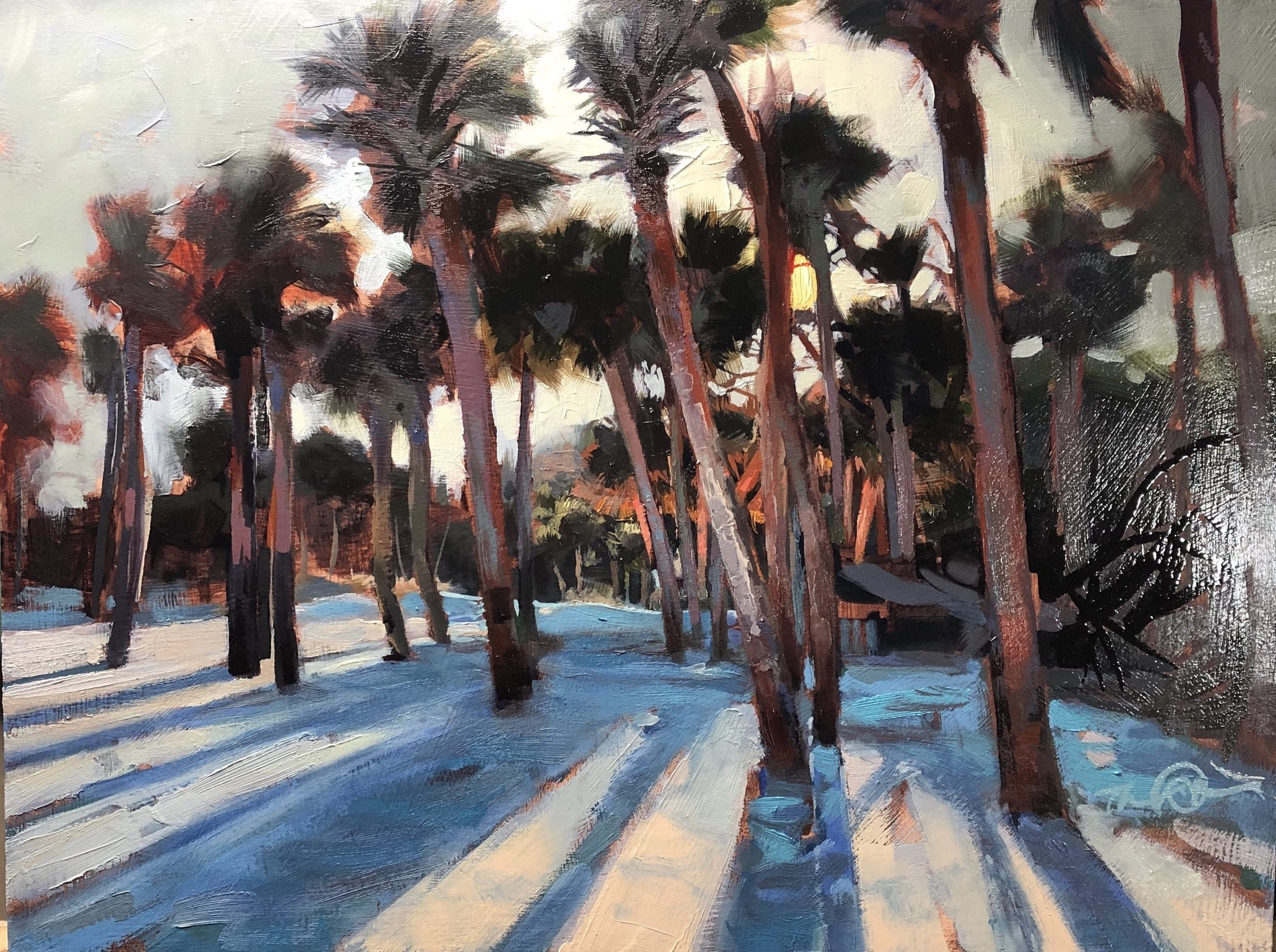 """Afternoon on Hunting Island, Oil, 12"""" x 16"""""""