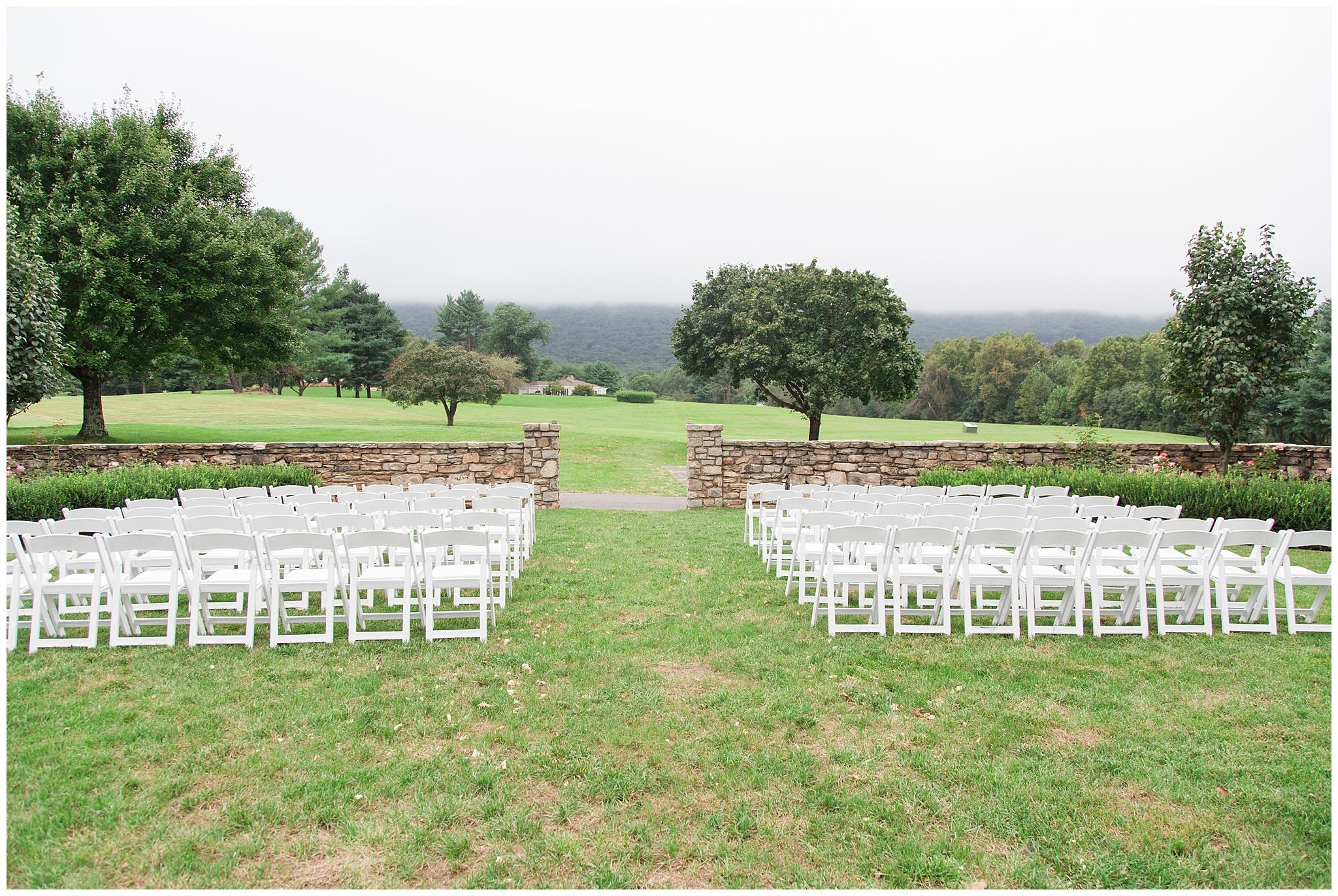 Outdoor ceremony space