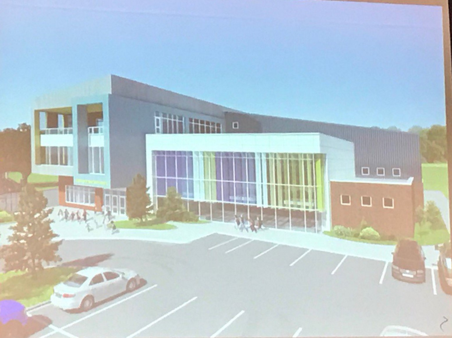 Seventy percent of children walk to LMST. The proposed site design welcomes these children with a large parking lot.