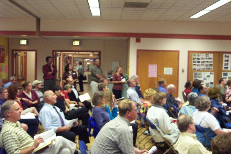 Citizens in opposition to a development proposal.