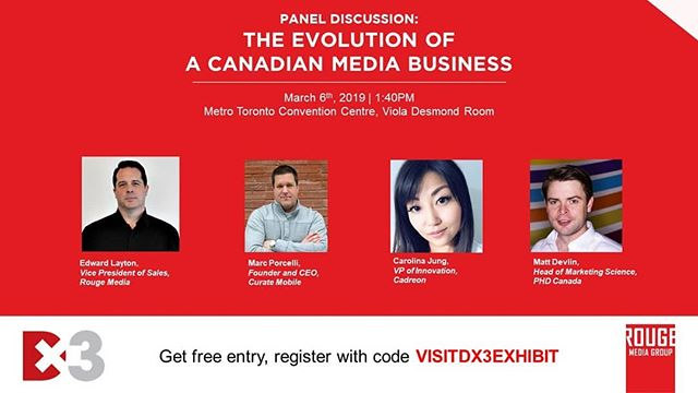 What do Canadian media owners need to do to grow and expand their business in the current landscape? Find out from the experts who made it happen!  Rouge is excited to curate and host a star-studded panel at@dx3canada 2019 where we will talk about everything from 3rd party data to survival tactics. And the best part? You can attend the panel and expo for free!  Just register using the promo code VISITDX3EXHIBIT. We hope to see you there!#DX32019 #RougeInsights ⬇️ https://www.dx3canada.com/agenda/tech-talks