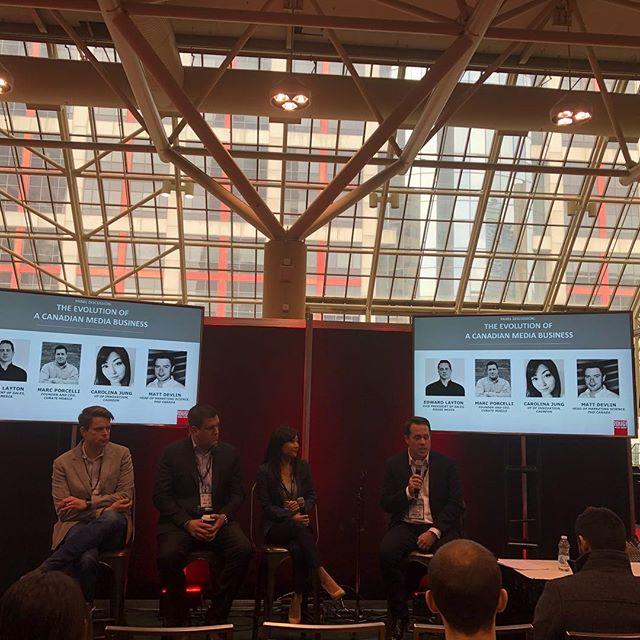 Our panel on 'Evolution of a Canadian Media Entity' at @dx3canada has begun! Are you here? We are also excited to keep attendees charged up with our charging stations! #dx32019
