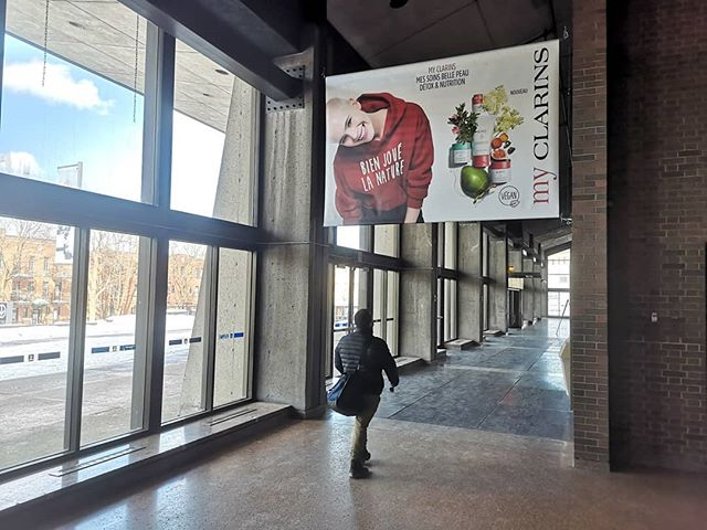 Tomorrow is the first day of Spring and our skin needs a moisturizing boost! My Clarins is reviving the freshness and getting students in the mood for Spring via premium vinyl murals in our Campus network. #RougeCampaigns #rougecampus