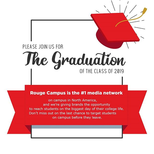 Now is the best time to connect with Gen Z consumers before they graduate, and Rouge Campus is the best way to get results!  Connect with consumers A18-24 via unmissable placements in high-traffic non-academic areas. 1600+ campuses, 18.4M+ Gen Z consumers, 1 way to reach them all. #RougeCampus