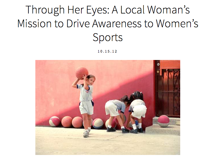 SportsDivas profiles THE THROUGH HER EYES PROJECT -