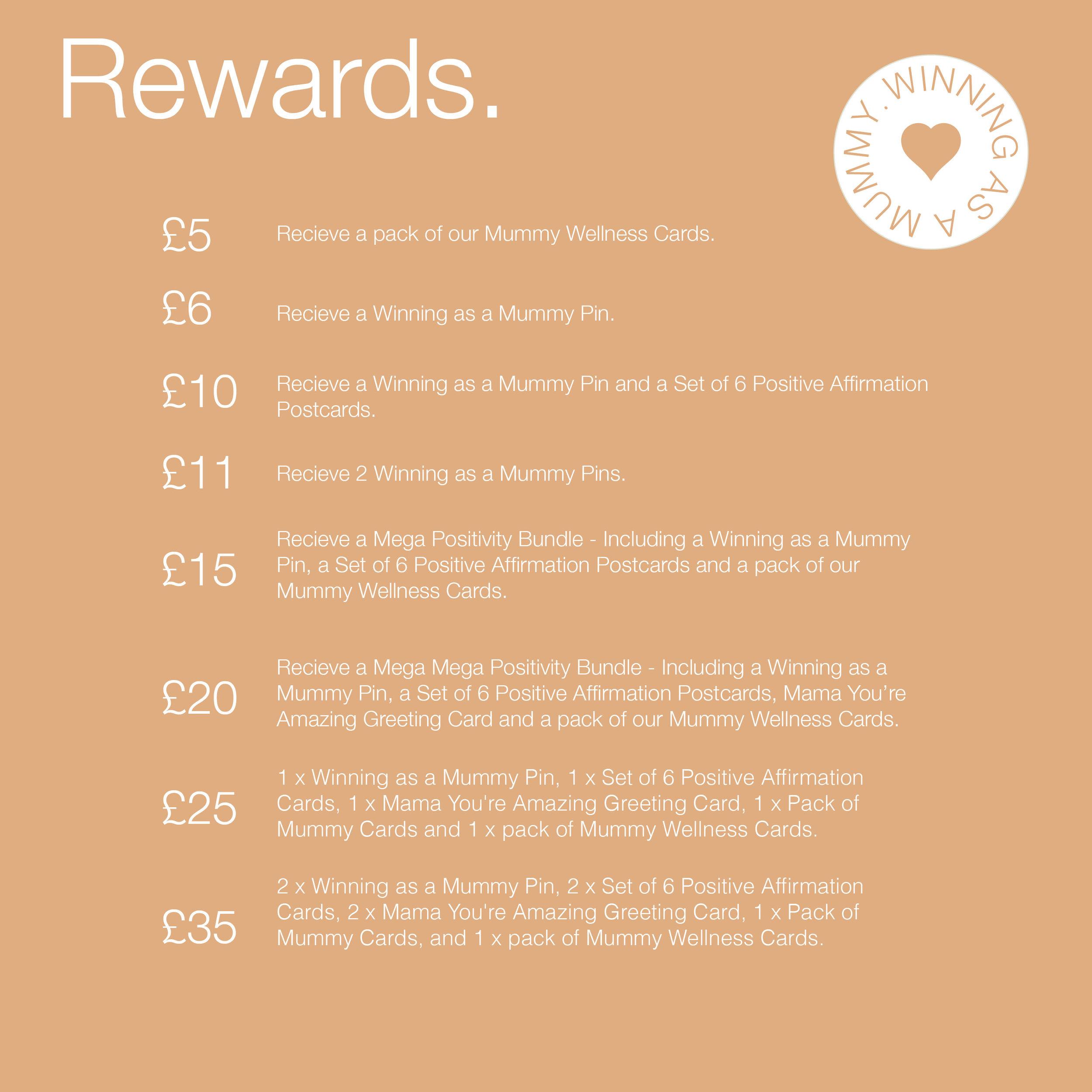 Rewards for pledges.