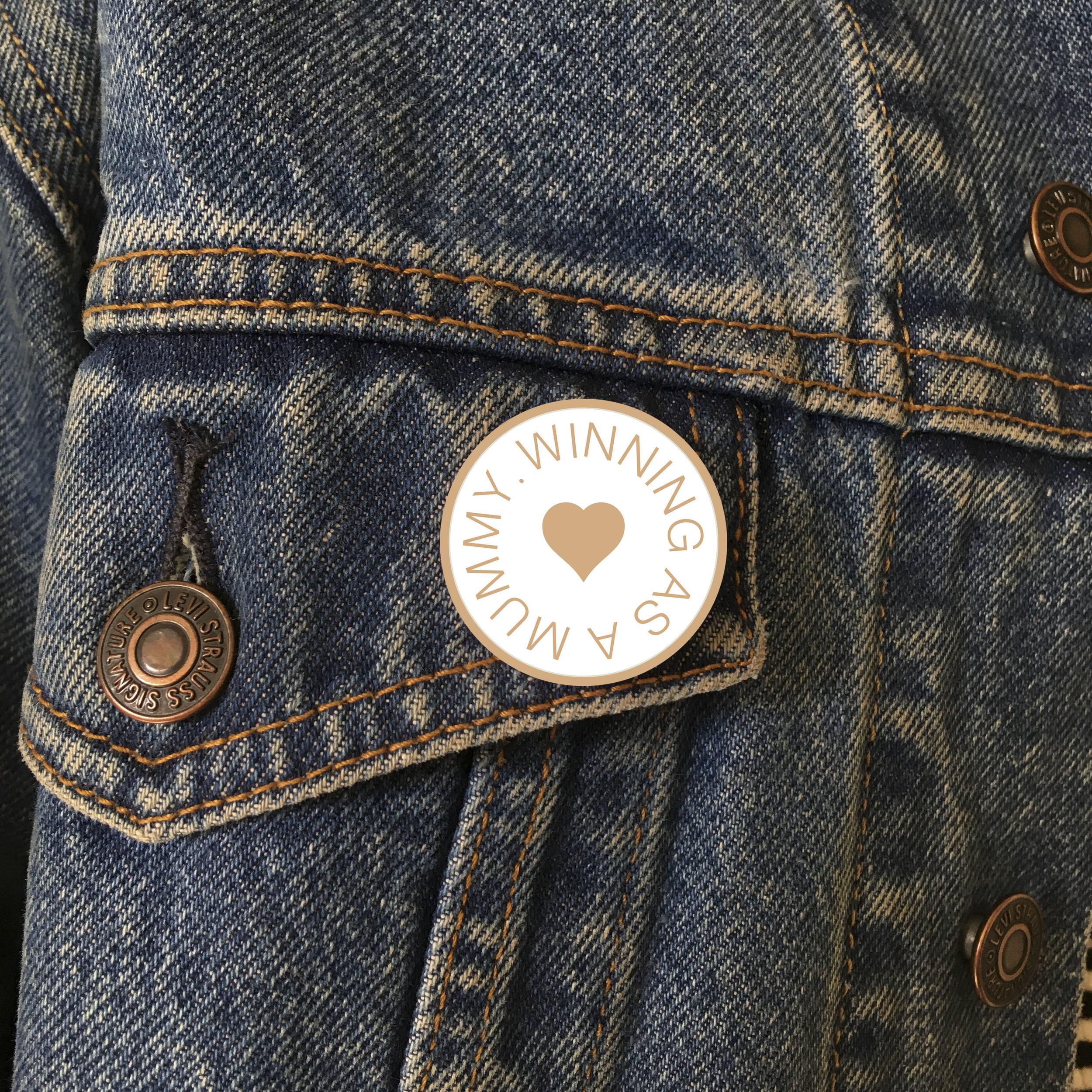 Pin Mock up on Jacket.