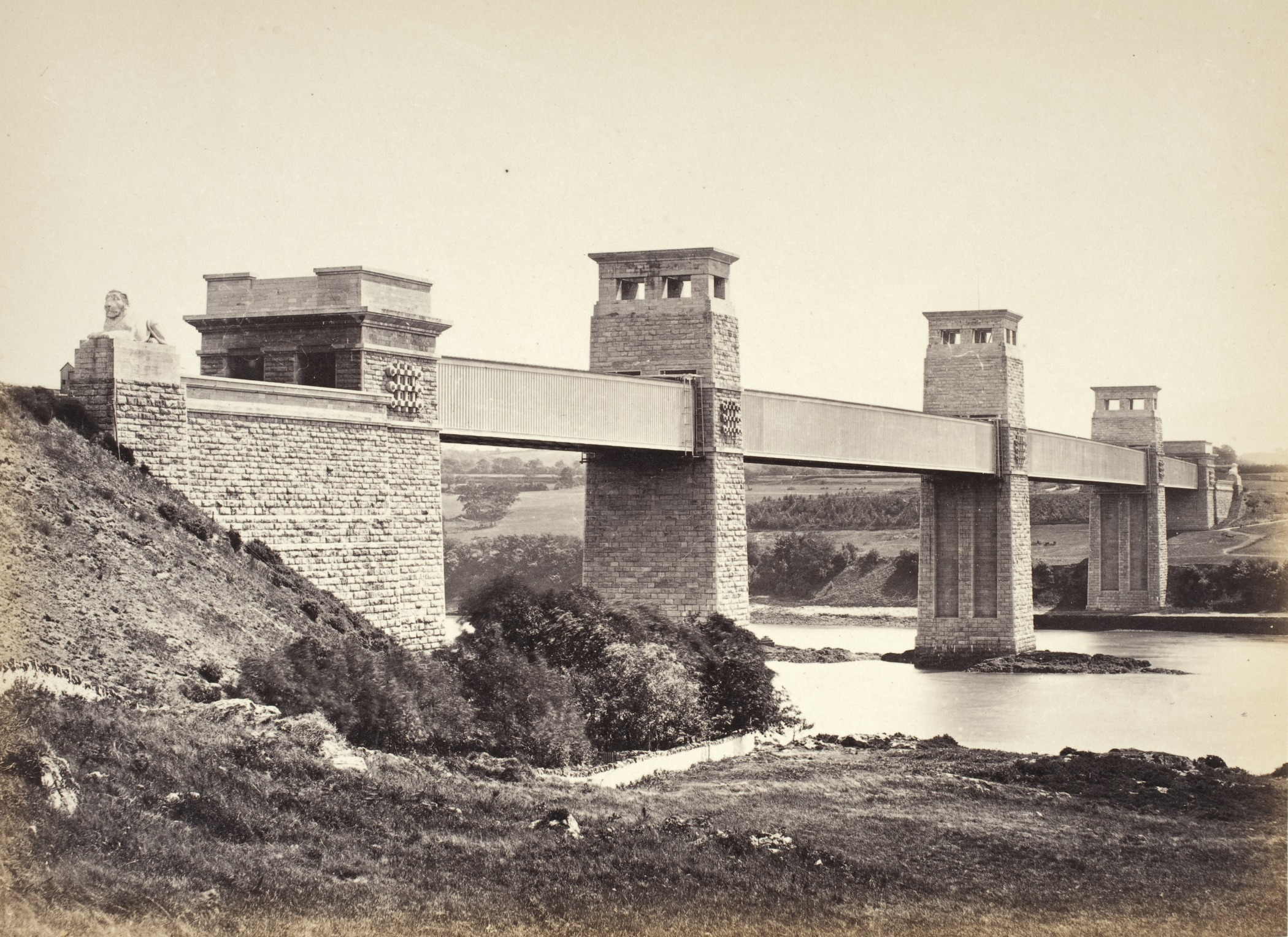 Bangor,_The_Britannia_Bridge,_From_Anglesey_(258)_LACMA_M.2008.40.202.9.jpg