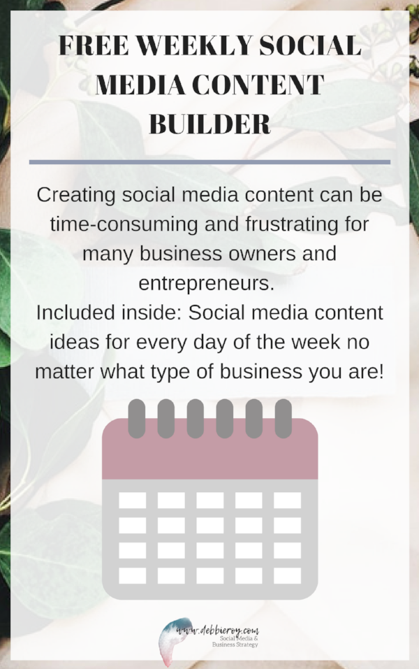 FREE WEEKLY SOCIAL MEDIA CONTENT BUILDER