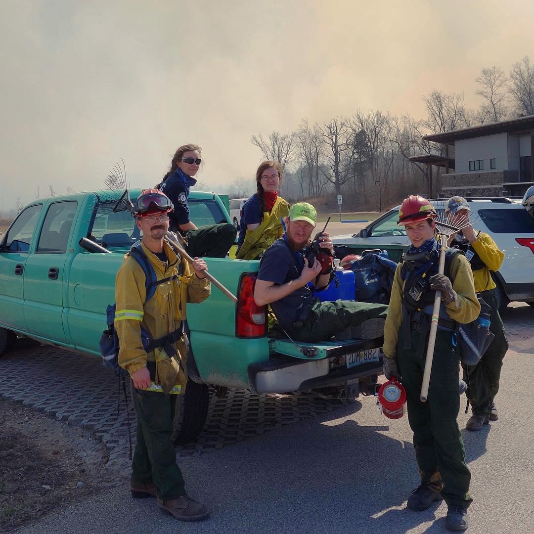 Wren and her team, from left to right: Andy Clubb, Wren Wells, Jane Kersch, Matt Farrington, and Megan Paynton. Photo by Eli Hacker.