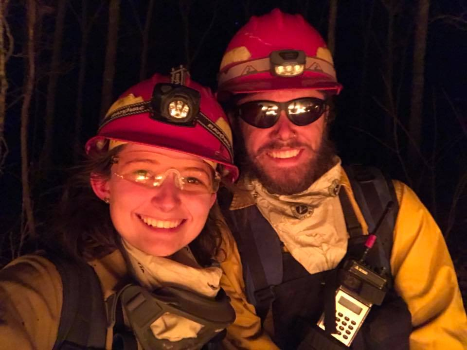 Dave and Heather McSherry, during a burn.