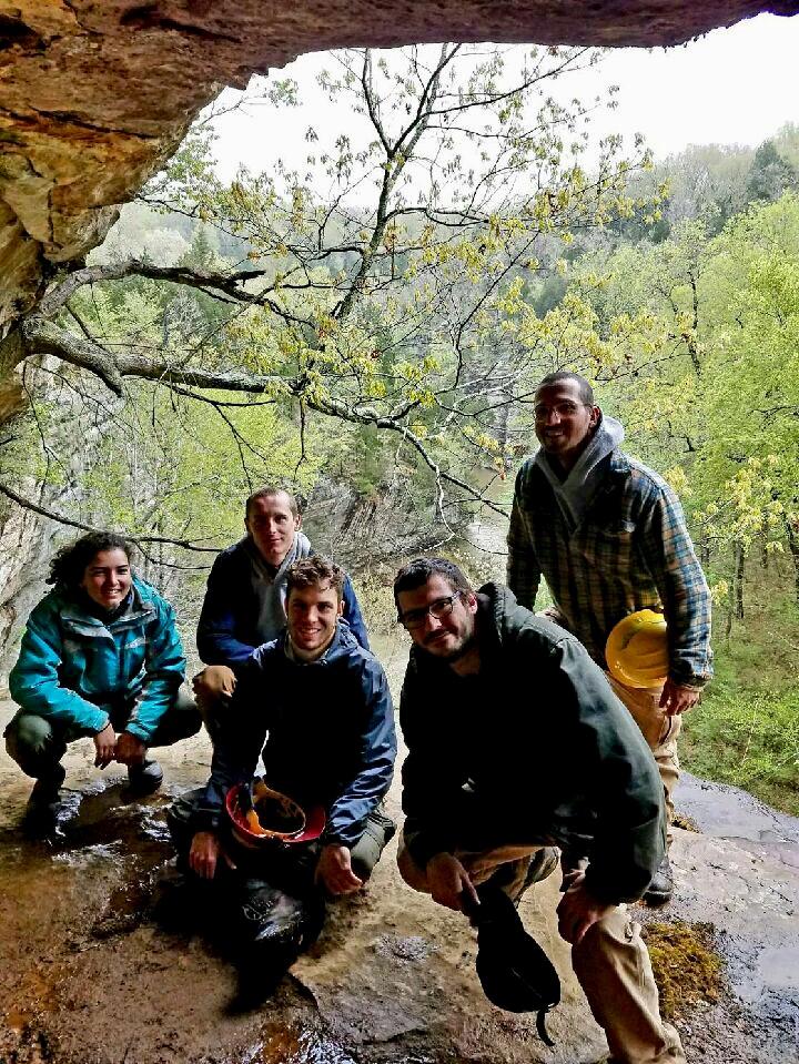Nicki Oppenheim, Will Calver-Jones, Luke Loranger, Nick Oberfrank, and Andy Clubb in Shawnee. Photo by Andy Clubb.