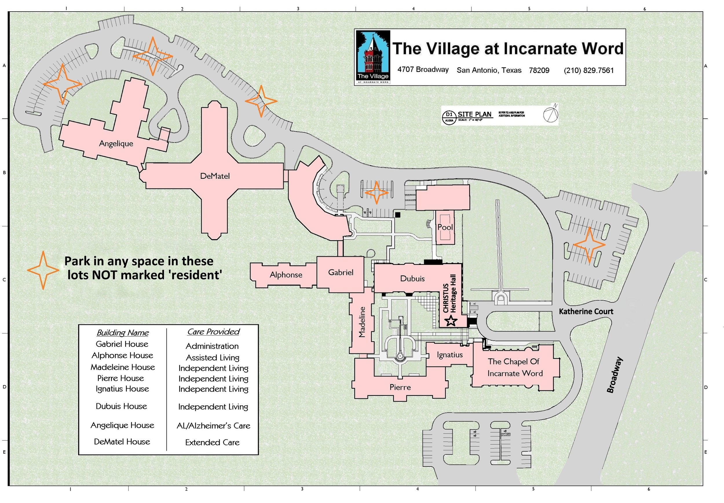 Parking Map for Film Series - Note you can only park here during film showings.