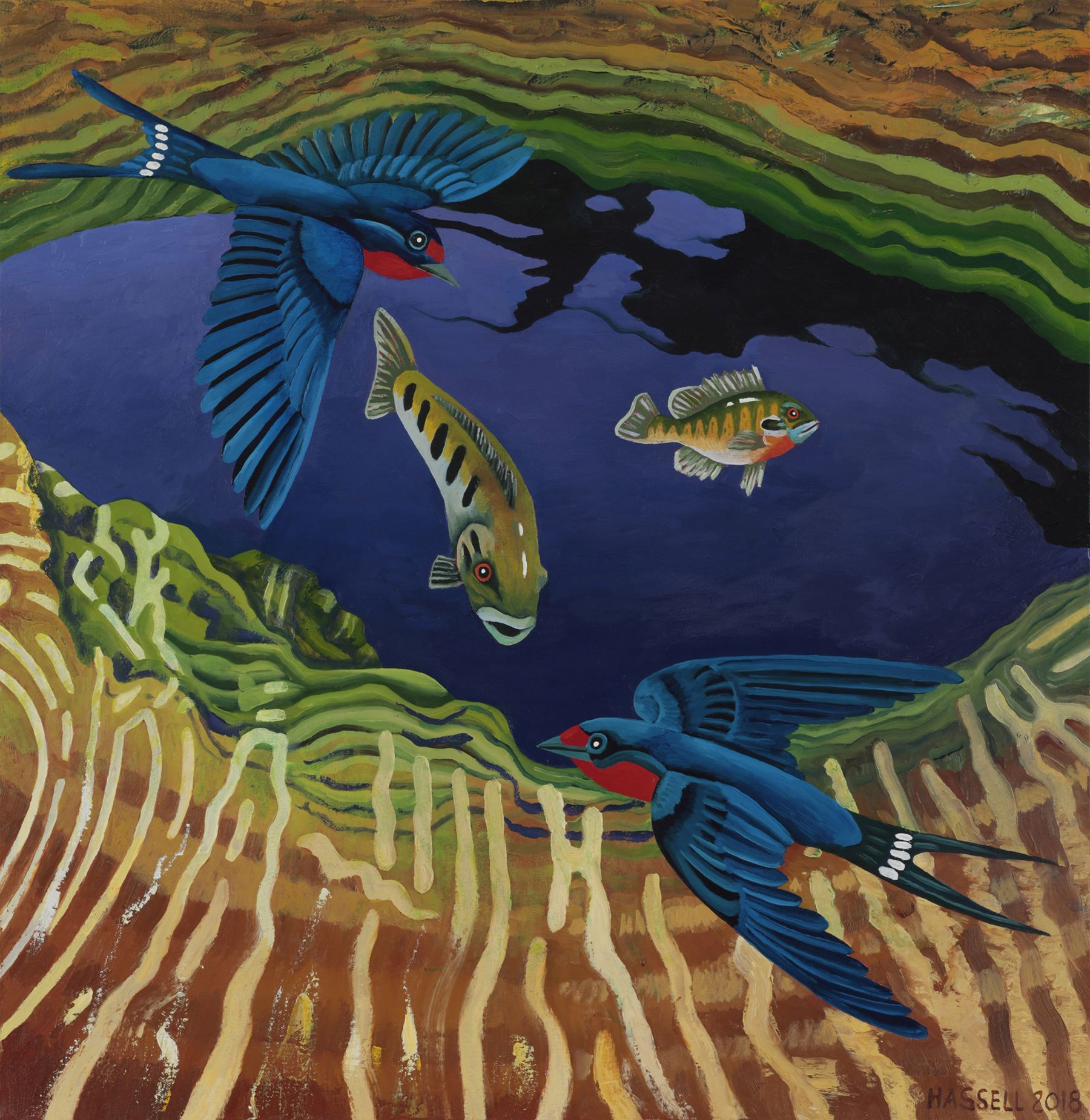 """Jacob's Well with Barn Swallows"" by Billy Hassell"