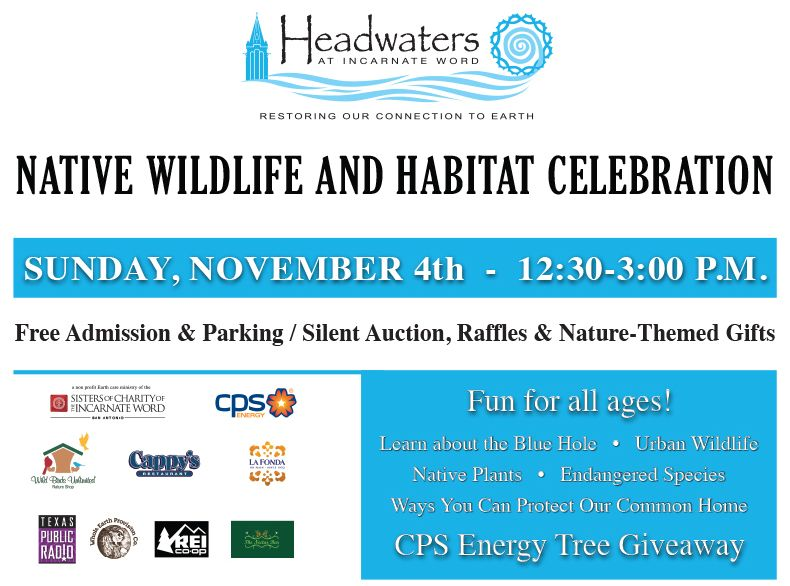 Native Wildlife & Habitat Celebration Flyer. Click the image above for a printable version.