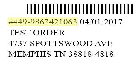 Sample mailing label