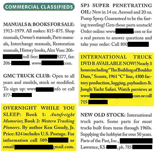 Commercial Classified ad sample