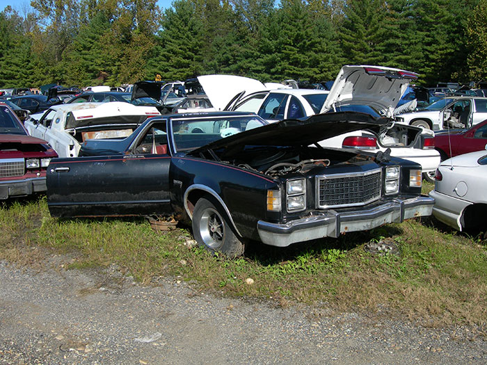 The Ford section, which has only 10 vehicles, offers this 1978 Ranchero, a vehicle which is gaining respect with the modern collector and is really tough to find parts for.