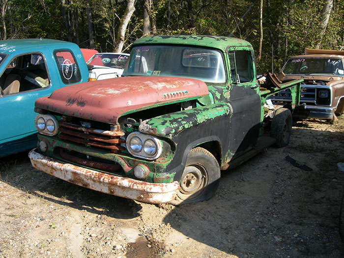 This is the second Dodge truck that I found in the truck section of the yard.