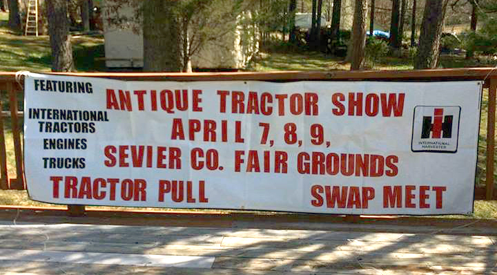 The club has a new sign advertising the Sevierville show.