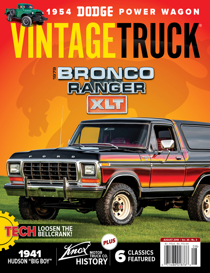 July/August 2018 Vintage Truck Magazine Cover