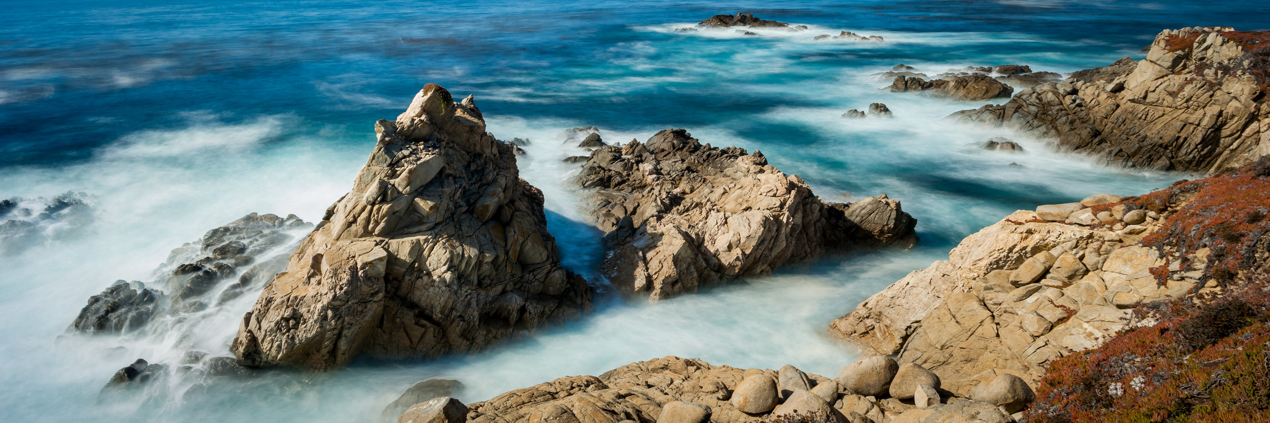 Big Sur Rocks  || Panorama, 15s exposure.