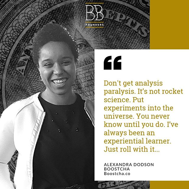 "Alexandra enrolled in our Bootstrapping Bootcamp and says she benefitted greatly from the Ideal Day exercise. ""I just didn't know or understand how to put together those financials, and the numbers didn't add up, mostly because at this point, I'm kind of freefalling. It was hard to have a conception of that."" She has since traveled to get a sense of what her ideal day looks and feels like.  Boostcha is a Kombucha driven ecosystem promoting empathy and creativity through the craft.  Follow @adodsays on twitter to keep up with the latest.  Ready to get BBF's recipe for flushing out YOUR idea, launching, and making your first dollars against the odds and with modest resources? Register for our next FREE webinar happening Sept. 3rd. Link in bio!"