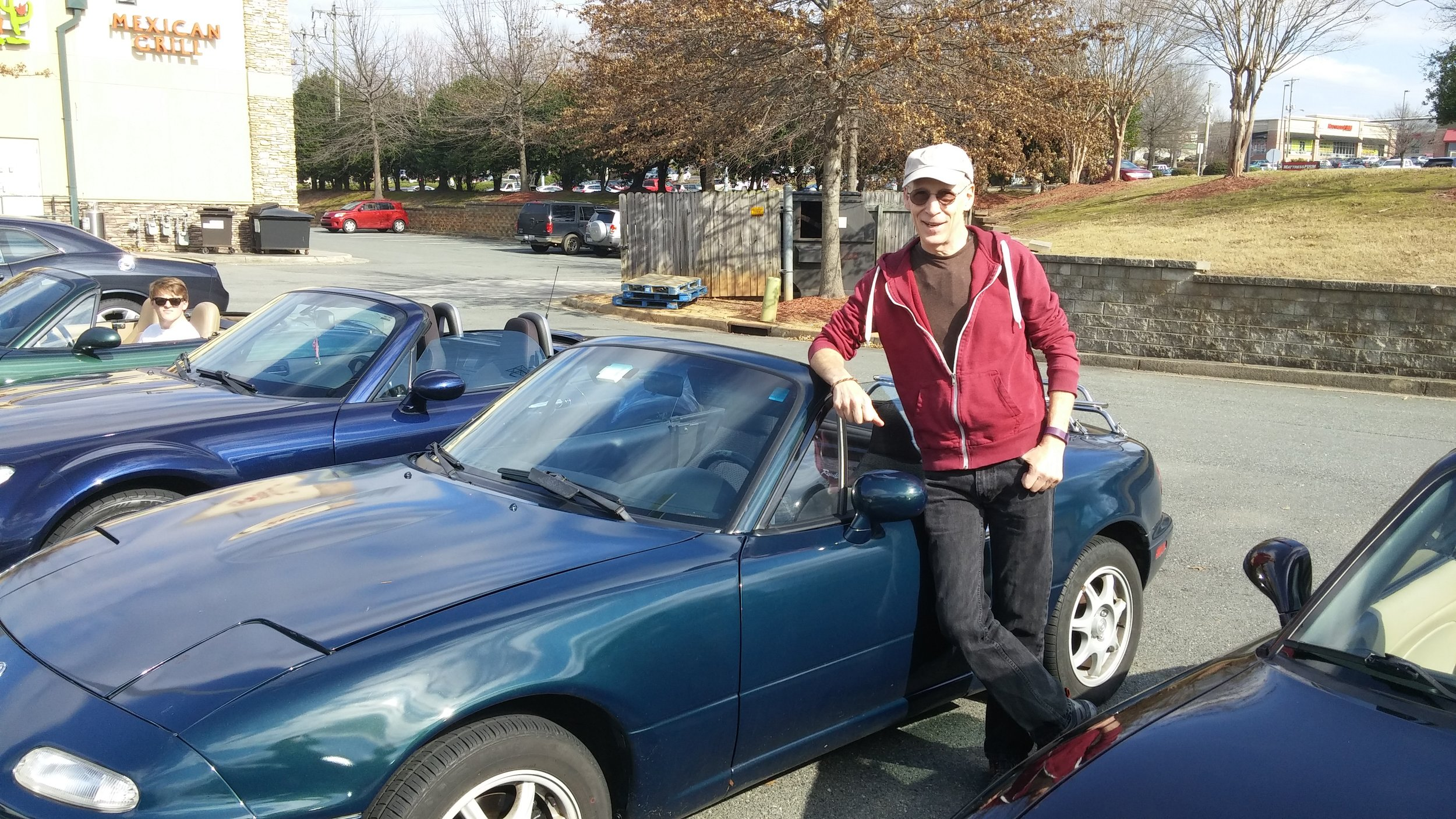 Paul Brown with his '97 Miata NA, now for sale.