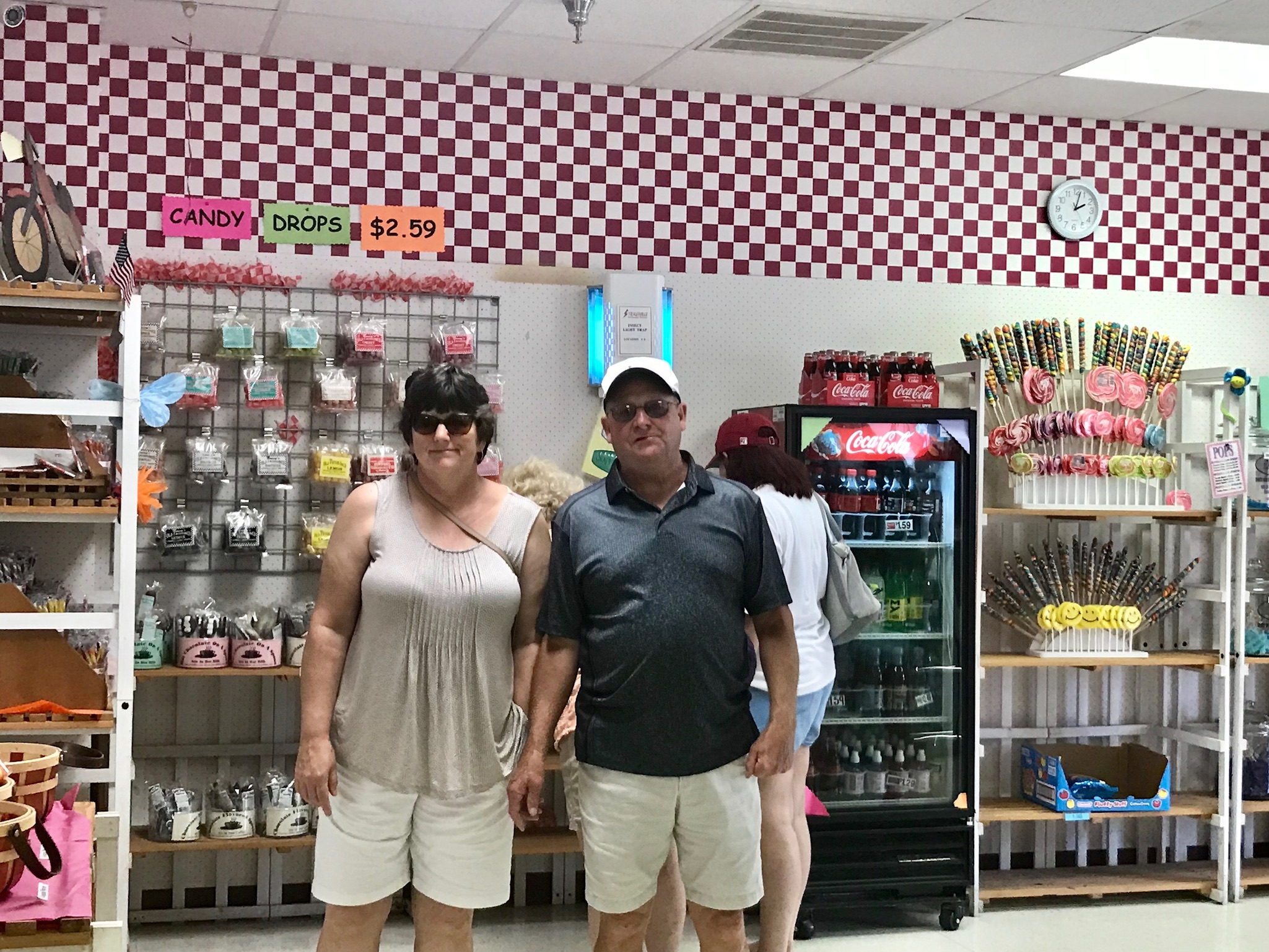 Tammy & Tom at Nancy's Candy Factory