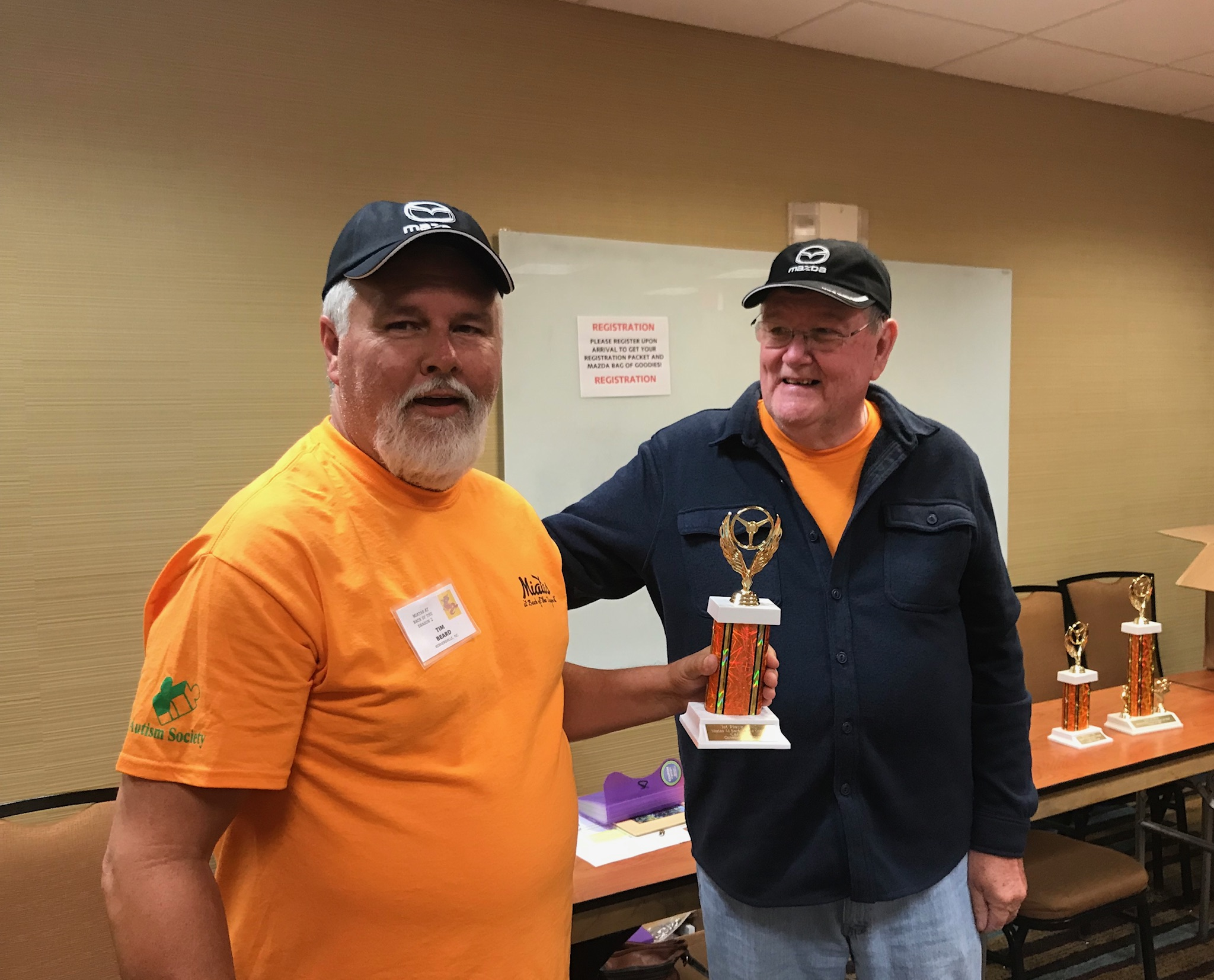 Jim presented 1st Place - NC division trophy to Tim Beard.