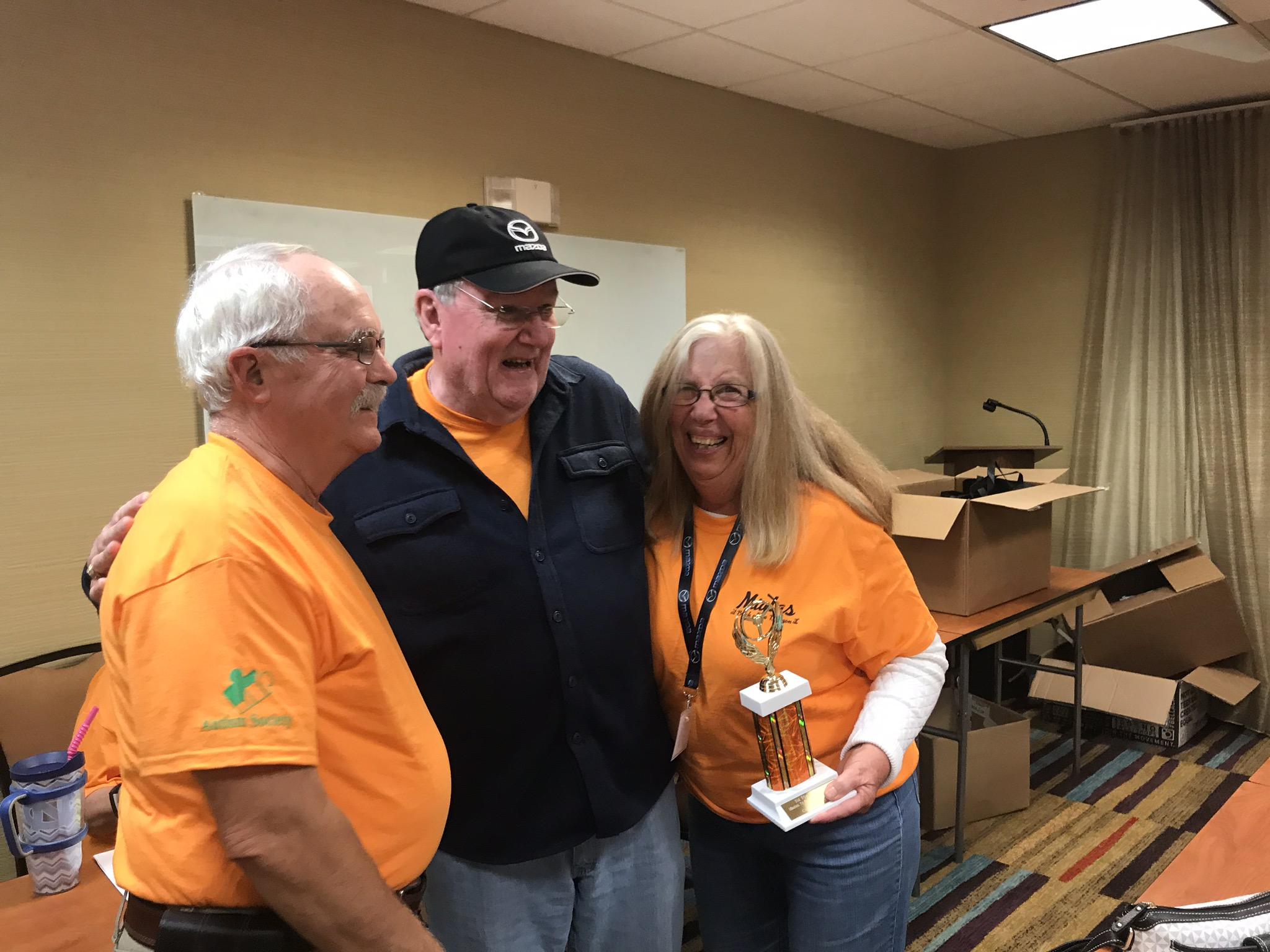 Jim presented 1st Place - ND division trophy to John & Pat Boyer.