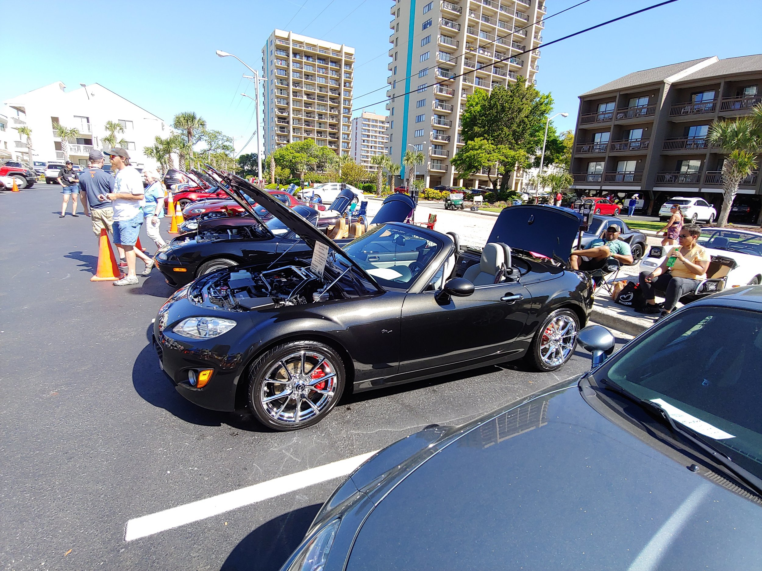 Tops down, and hood lifted up. So many great cars to enjoy. This one won Best NC and Best Overall. The car will be displayed on next years T-shirt, I am told.