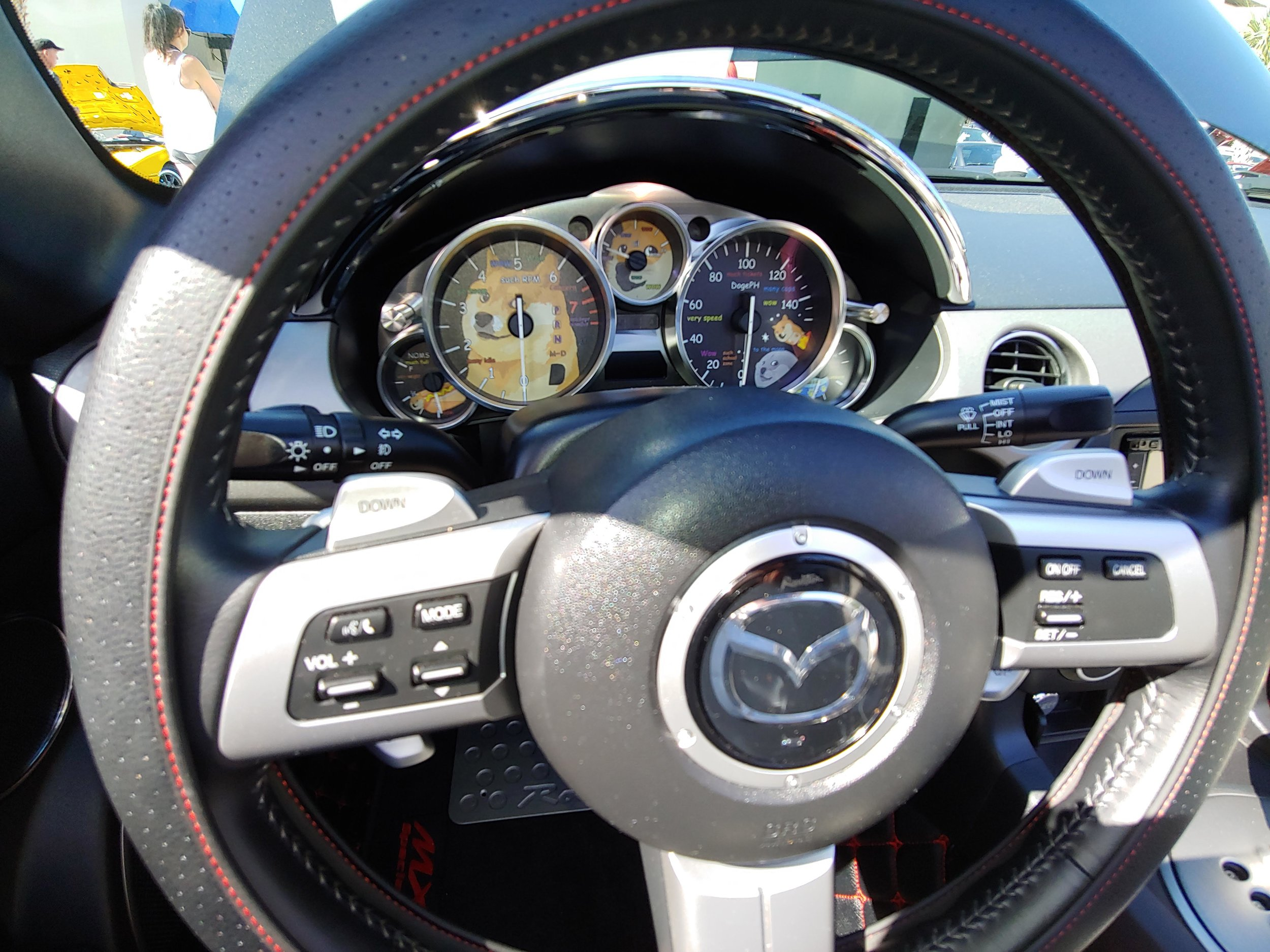 Some drivers even dress up their instrument panel. So many idea you can get from a Car Show.