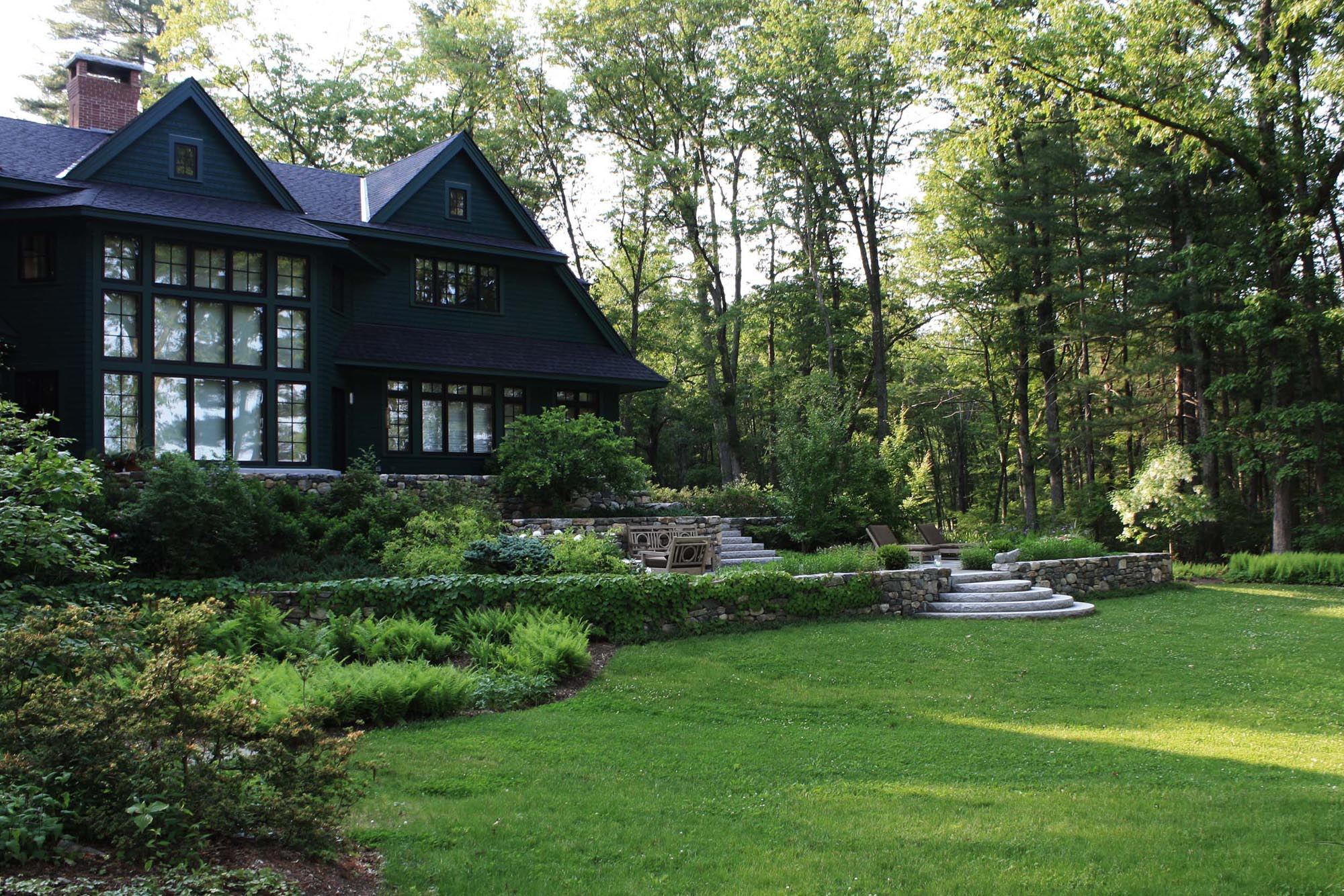 Full Site Plan, Details And Planting For A New Home Sherborn