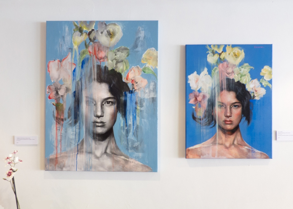 'Happiness is the Secret to Beauty' and 'Dior in Blue', both sold at the three day pop-up show