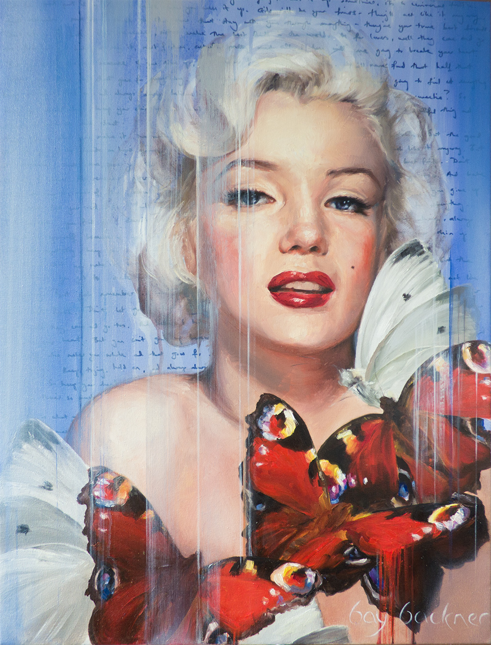 My latest painting of the iconic Marilyn Monroe