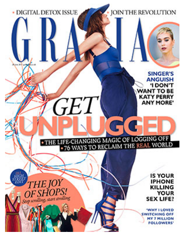 grazia unplugged issue June 2017