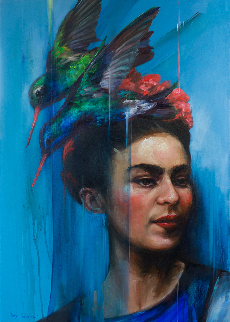 'Frida and the Birds', oil on canvas, Bay Backner 2017