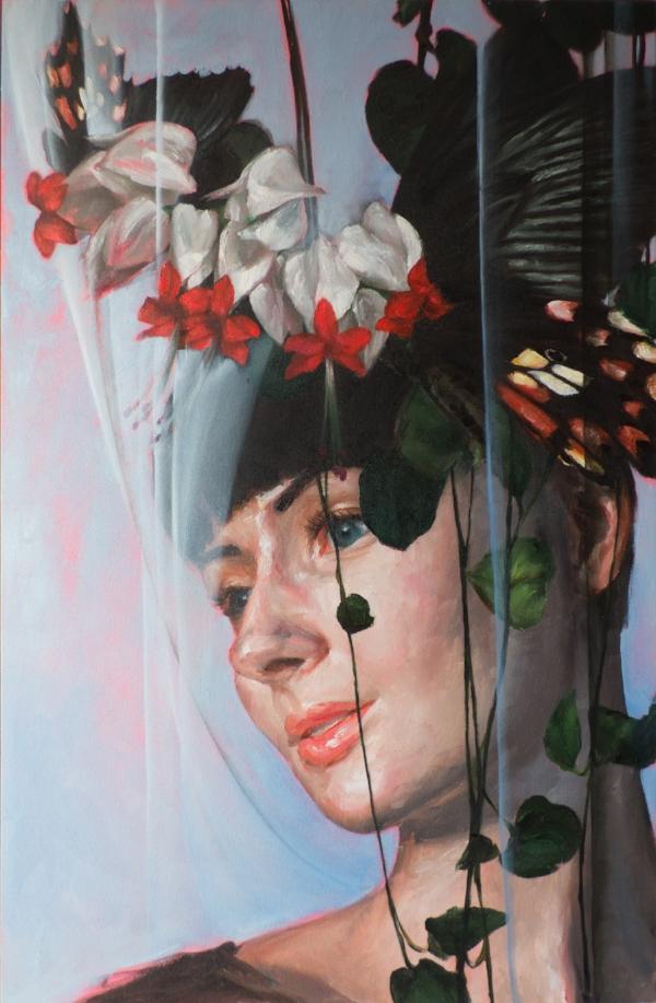 'Valeria' portrait art by Bay Backner