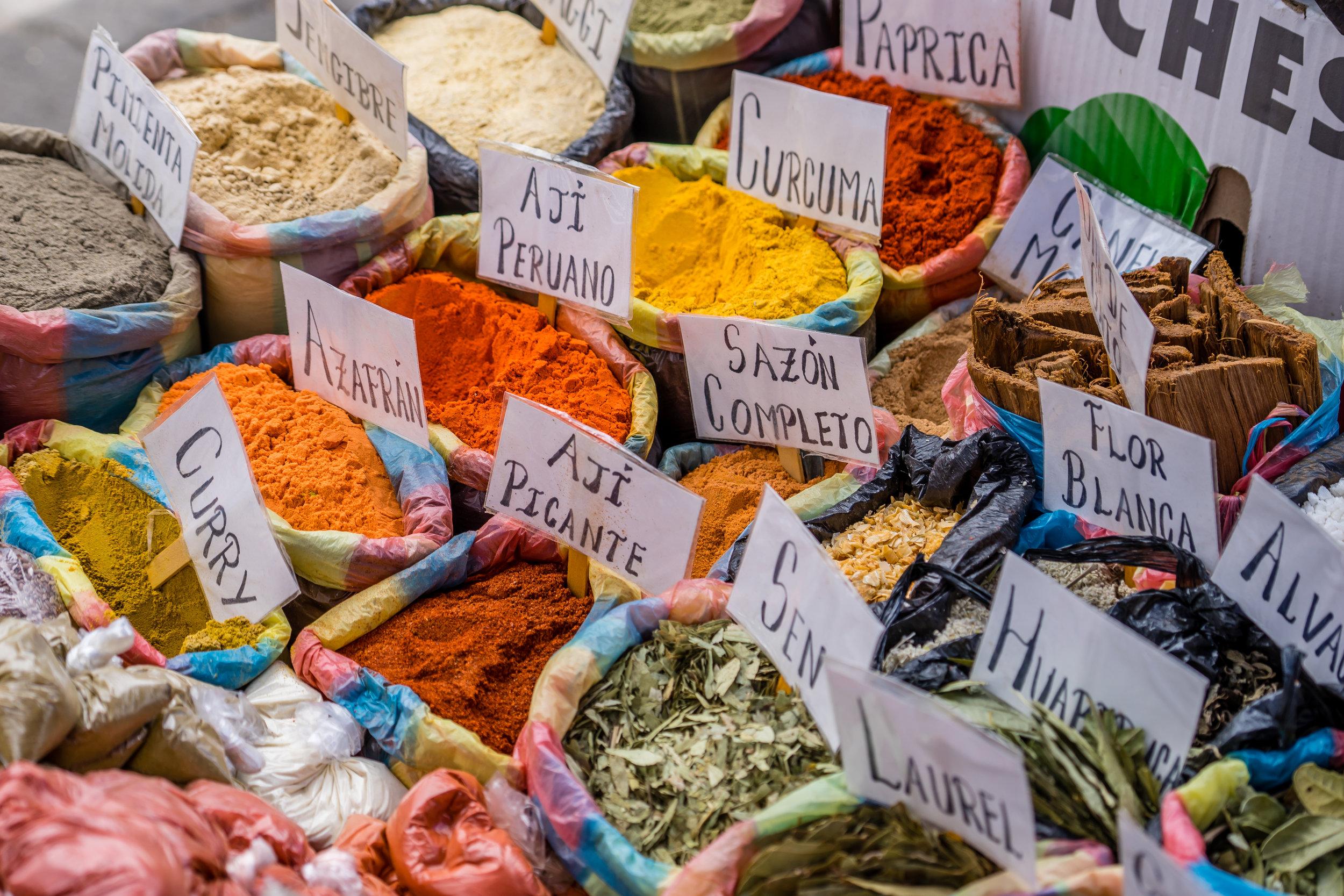 Andean Spice Market in Ecuador