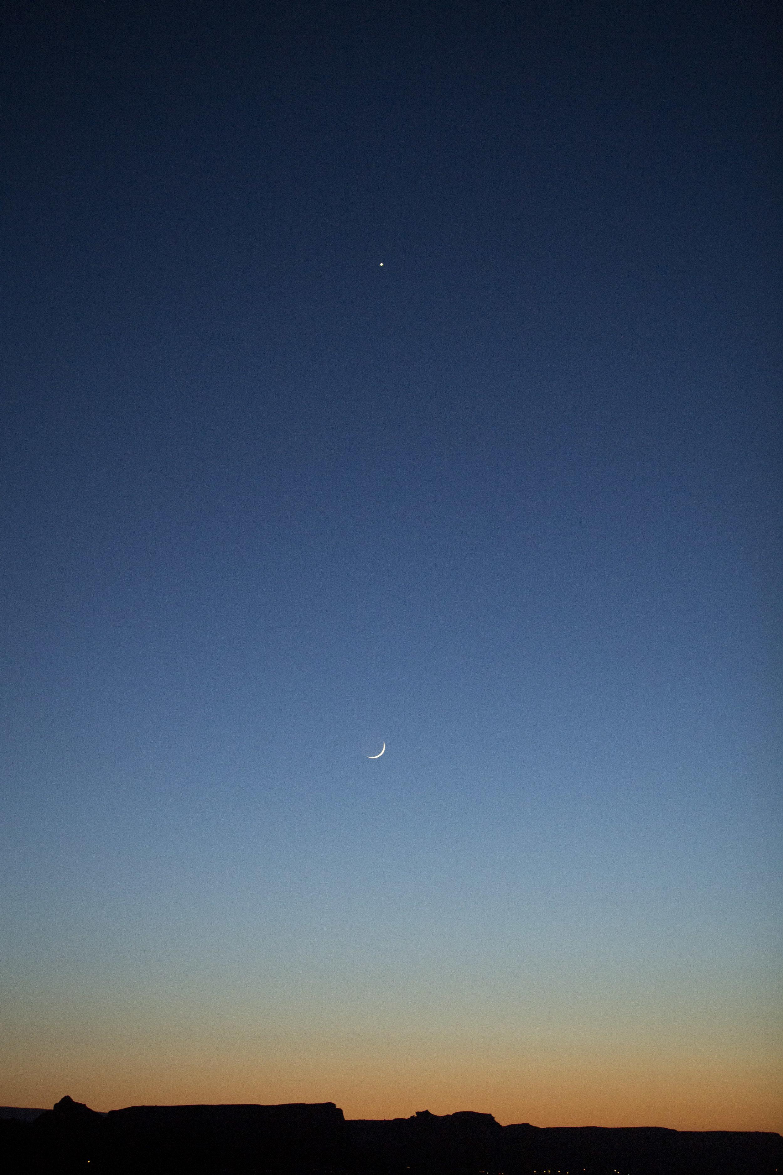 Venus over Luna