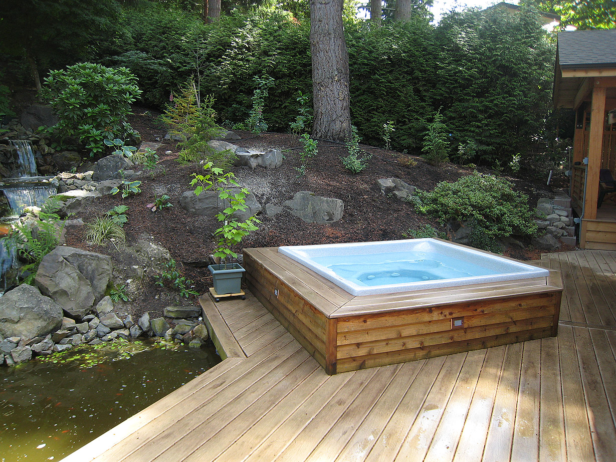 Hot Tub and Pond