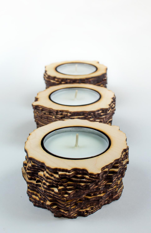 Tealights    Lasercut wood, tealights  2016  SOLD