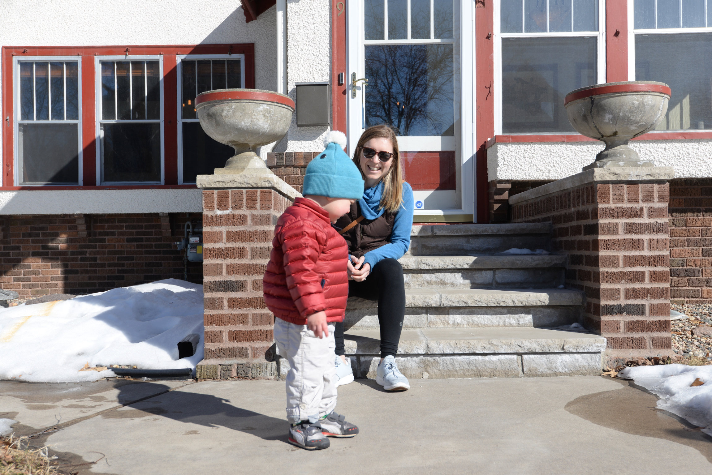 Ian the dynamo on the house hunt with Mom in Kingfield, spring 2018.