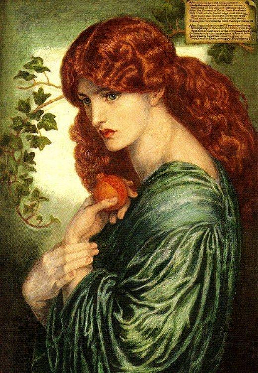 Proserpine 1874 by Dante Gabriel Rosetti