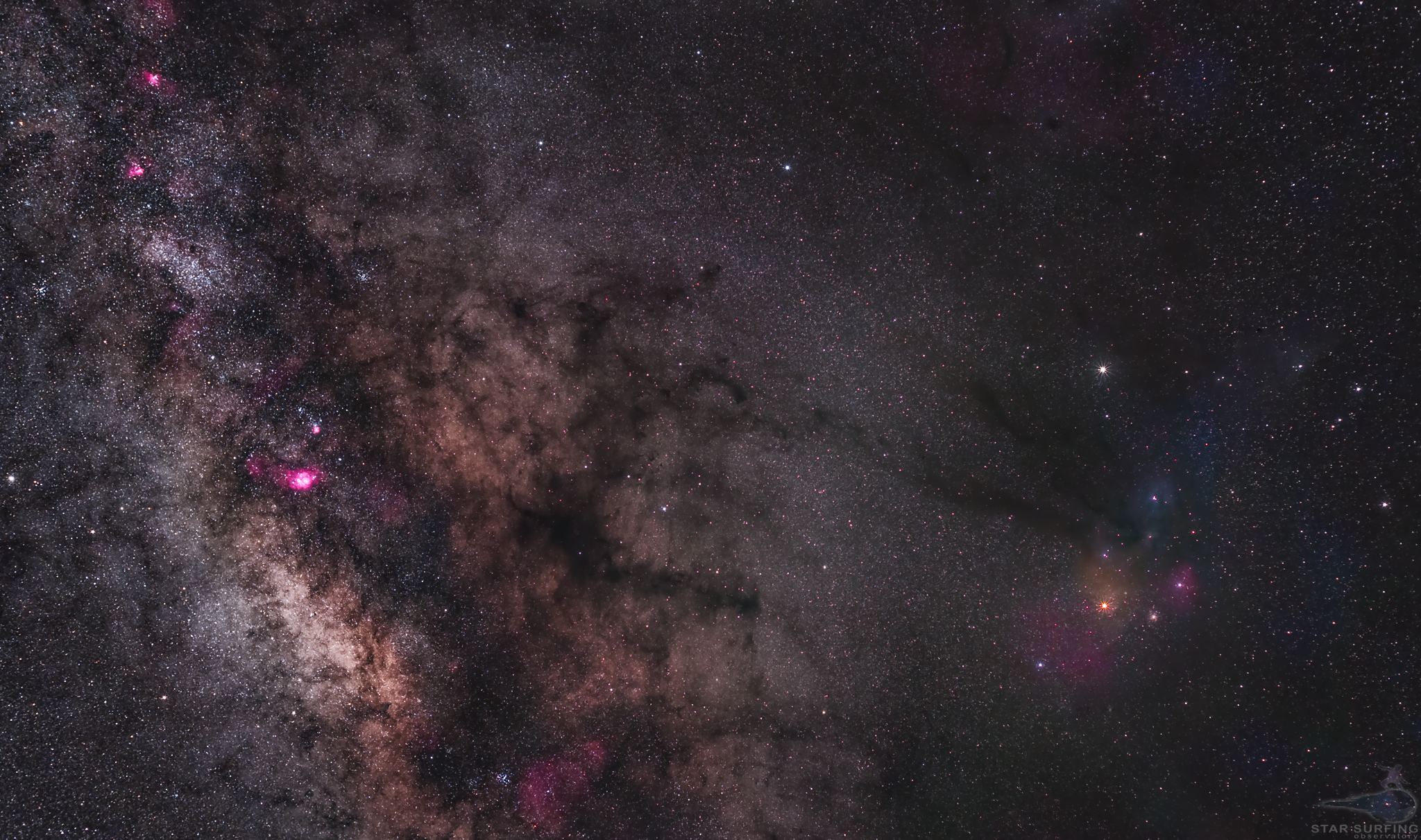 Antares-Rho Ophiuchus Complex and milky way