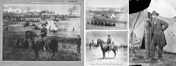 Σύνθεση από τρεις διαφορετικές φωτογραφίες για το πορτρέτο του Ulysses S. Grant στατηγού των βορείων και 18ου Προέδρου της Αμερικής.